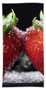 Strawberries Panorama Beach Towel