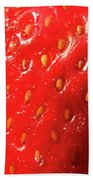 Strawberry Abstract Beach Towel