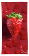 Strawberry Fresh One Beach Towel
