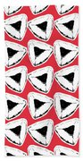 Strawberry Hamentashen- Art By Linda Woods Beach Towel