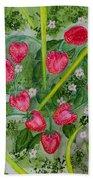 Strawberry Love Patch Beach Towel