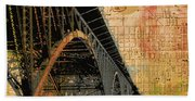 Strawberry Mansion Bridge Philadelphia Pa Beach Towel