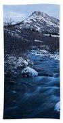 Mountain Stream In Twilight Beach Towel