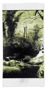 Stream In An Ancient Wood Beach Towel