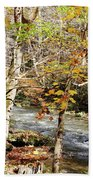 Stream In An Autumn Woods Beach Towel