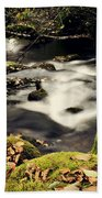 Stream In Lapland Finland Beach Towel