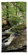 Stream In The Irish Countryside Beach Towel