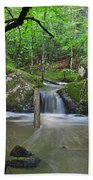 Stream Waterfall Beach Towel