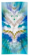 Streams Of Light In Turquoise Beach Towel