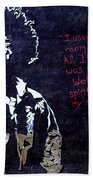 Street Art - Jimmy Hendrix Beach Towel