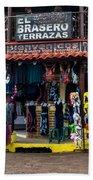 Street Commerce At Ataco Beach Towel