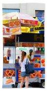 Street Food 2 Beach Towel