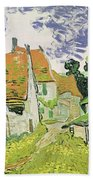 Street In Auvers Sur Oise Beach Towel