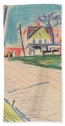 Street In The Bronx Beach Towel