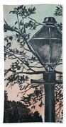 Street Lamp Historic Vintage Art Print Beach Towel