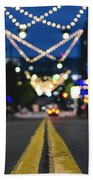 Street Lights Beach Towel