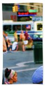 Street Photography Nyc Paint  Beach Towel
