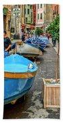 Street Scene Manarola Italy Dsc02634 Beach Towel