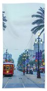 Street Scene, New Orleans Beach Towel