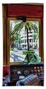 Streetcar Interior New Orleans  Beach Towel