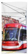 Streetcar On Spadina Avenue #17 Beach Towel
