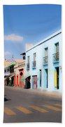 Streets Of Oaxaca Mexico 4 Beach Towel