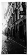 Streets Of Rome 2 Black And White Beach Towel