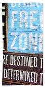 Stress Free Zone  Beach Towel