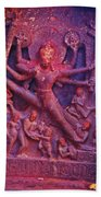 Striding Vishnu Beach Towel