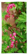String Of Bleeding Hearts Beach Towel