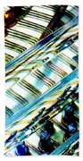 Strings Z100 Abstract Beach Towel