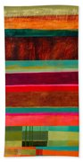 Stripe Assemblage 1 Beach Towel