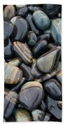 Striped Pebbles Beach Towel