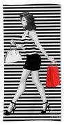 Stripes In Fashion Beach Sheet
