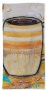 Stripped Mug Beach Towel