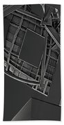 Structure - Center For Brain Health - Las Vegas - Black And White Beach Towel