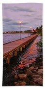 Stuart Riverwalk Sunset Beach Towel