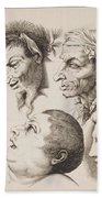 Studies Of Heads Anonimo, Blooteling Abraham Beach Towel