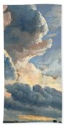Study Of Clouds With A Sunset Near Rome Beach Towel