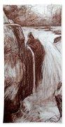 Study Of Rocks At Betws-y-coed Beach Towel