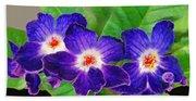 Stunning Blue Flowers Beach Sheet