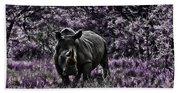 Styled Environment-the Modern Trendy Rhino Beach Towel