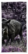 Styled Environment-the Modern Trendy Rhino Beach Towel