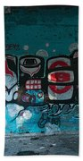 Stylized Salmon Beach Towel