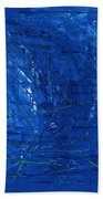 Subatomic Particles In Blue State Beach Towel