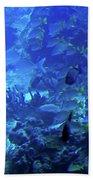 Submarine Underwater View Beach Towel