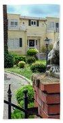 Suburban Antique House With Lion Hayward California 22 Beach Towel