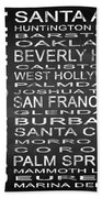 Subway California State Square Beach Towel