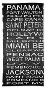 Subway Florida State Square Beach Towel