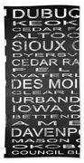 Subway Iowa State Square Beach Towel